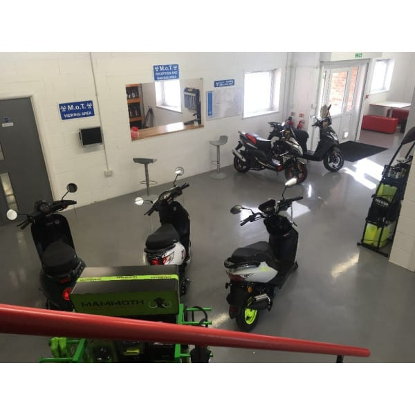 View of the main showroom